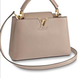 - Louis Vuitton Capucines PM Taupe Color